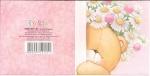 """Мини-открытка """"Мишка с цветами"""""""