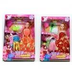 Кукла с набором платьев 27 см