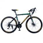 """Велосипед двухколесный 28"""", черно-зеленый"""