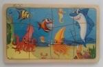 """Пазл деревянный """"Подводный мир"""", в рамке"""