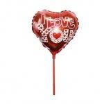 """Шар фольгированный мини-фигура """"Сердце I Love You"""""""