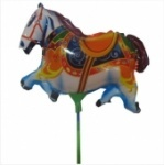 """Шар фольгированый мини-фигура """"Цирковая лошадь"""""""