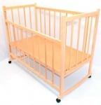 Кроватка-качалка, деревянная №4, ольха не лакированная