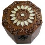 Шкатулка деревянная восьмигранная