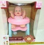 Кукла-пупс + стульчик для кормления
