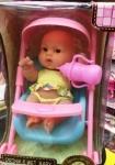 Кукла-пупс в коляске