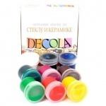 Краски акриловые DECOLA по стеклу и керамике, 9 цветов, 20 мл