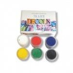 Краски по ткани акриловые DECOLA 6 цветов, 20 мл