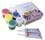 Набор DECOLA по стеклу и керамике: краски акриловые + контуры в тубе + разбавитель