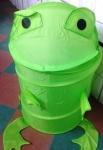Корзина для игрушек Зеленая лягушка /Оранжевая собака