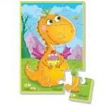 """Мягкие пазлы А5 """"Диномир"""" Оранжевый динозавр"""