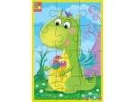 """Мягкие пазлы А5 """"Диномир"""" Зеленый динозавр"""