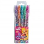 """Ручки в наборе гелевые с блестками  """"Винкс"""", 5 шт./наб."""
