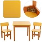 Столик деревянный, желтый +  2 стульчика