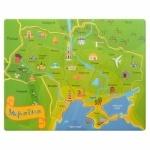 Деревянная игрушка Пазлы  Карта