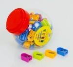 Точилка для карандашей цветная - блок