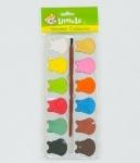 Краски акварельные для рисования, 12 цветов