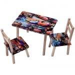 """Столик и 2 стула """"Тачки"""""""