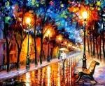 """Картина по номерам """"Дождливая осень"""" (без коробки)"""