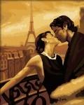 """Картина по номерам """"Поцелуй в париже"""" (без коробки)"""