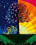 """Картина по номерам """"Дерево счастья"""" (без коробки)"""