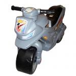 Мотоцикл для катания 2-х колесный с сигналом, серый