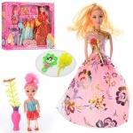 Кукла с нарядами и дочкой