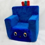 Стульчик-кресло синий, 45*40см