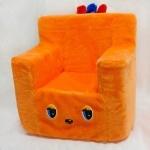 Стульчик-кресло оранжевый, 45*40см