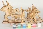 Сборная деревянная модель Солдатский полк + краски