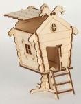 Сборная деревянная модель Домик на ножке дракон