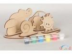Сборная деревянная модель набор 1 + краски