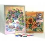 Вышивка бисером - Цветы в кувшине