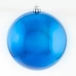 Шар d-10 cм  синий блестящий