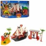 Игровой набор с пиратами и кораблем