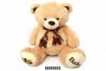 Медвежонок с шарфом музыкальный 50 см. серый
