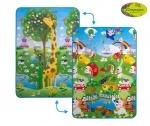 """Детский двусторонний коврик """"Большая жирафа и Парк развлечений"""", 120х180 см"""