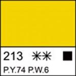 Краска акриловая ЛАДОГА, желтая светлая, 220мл ЗХК