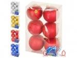 Елочные шарики ПОДСОЛНУХИ 6см 6шт/коробка