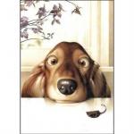 Картины по номерам Без коробки/ Озорной щенок