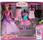 Кукла  с  платьями
