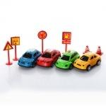 Набор машинок с дорожными знаками
