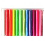 Термопластилин флюорисцентный (полимерная глина), 12 цветов