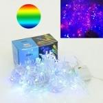 Гирлянда светодиодная 15 м, 200 разноцветных лампочек