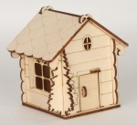 Сборная деревянная модель домик елочка