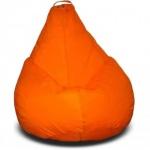 Пуф Груша Оксфорд, оранжевая