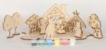 Сборная деревянная модель Три поросенка + краски