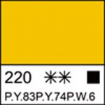 Краска акриловая ЛАДОГА, желтая средняя, 220мл ЗХК