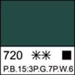 Краска акриловая ЛАДОГА, зеленая средняя, 220мл ЗХК