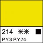 Краска акриловая ЛАДОГА, лимонная, 220мл ЗХК